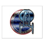 Enterprise Patch (metal look) Small Poster
