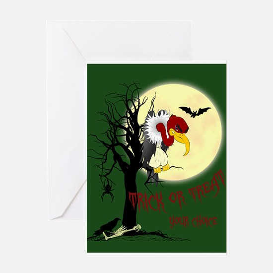 Buzzard Trick-or-Treat Greeting Card