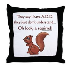 ADD Squirrel Throw Pillow