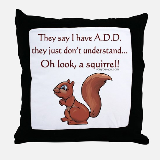 ADD Squirrel Throw Pillow