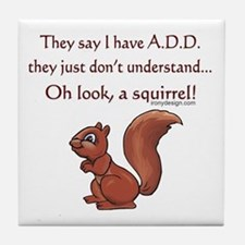 ADD Squirrel Tile Coaster