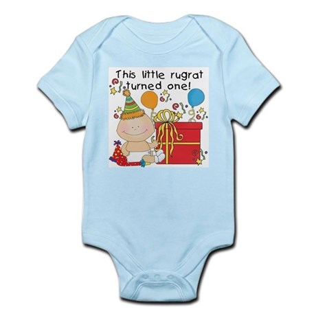Little Rugrat is One Infant Bodysuit