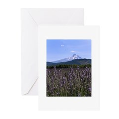 Mount Hood and Lavender Greeting Cards (Pk of 10)