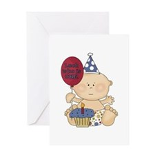 Boy Look Who Is One Greeting Card