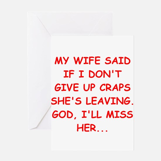 funny craps player Greeting Card