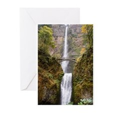 Multnomah Falls Oregon Greeting Cards (Pk of 10)