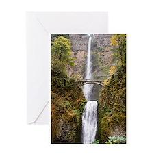 Multnomah Falls Oregon Greeting Card