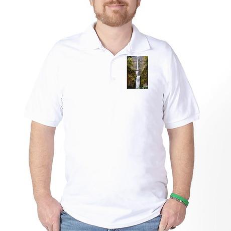 Multnomah Falls Oregon Golf Shirt
