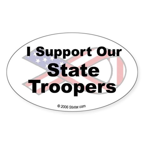 I Support Our State Troopers Oval Sticker