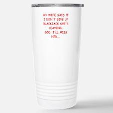 funny blackjack Stainless Steel Travel Mug