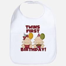 Twins 1st Birthday Boy/Girl Bib