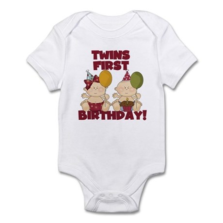 Twins 1st Birthday Boy/Girl Infant Bodysuit