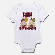 Twins 1st Birthday Boy/Girl Infant Bodysuit