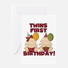 twins first birthday greeting cards  card ideas, sayings, designs, Birthday card