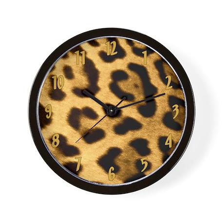 Jaguar Print Wall Clock