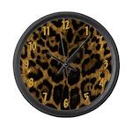 Jaguar Print Large Wall Clock