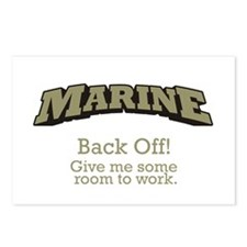 Marine - Back Off Postcards (Package of 8)