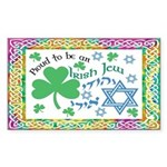 Proud Irish Jew Rectangle Sticker