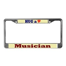 Hug a Musician License Plate Frame