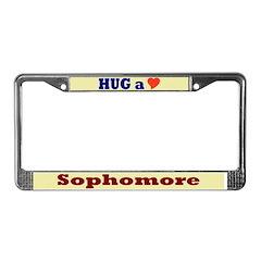 Hug a Sophomore License Plate Frame