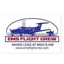 EMS Flight Crew Fixed Wing Postcards (Package of 8