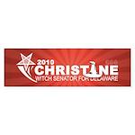 Christine O'Donnell Witch Sticker (Bumper 10 pk)