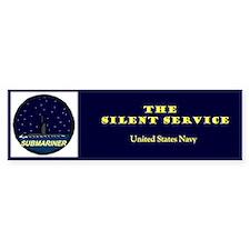 Silent Service Bumper Bumper Bumper Sticker