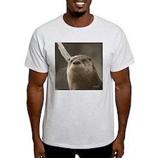 Otter Portrait Apparel Ash Grey T-Shirt