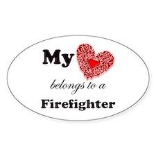 my heart fireman copy Decal