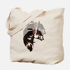 Feathered Paint Horse Tote Bag