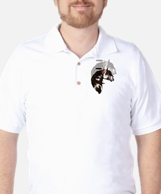 Feathered Paint Horse Golf Shirt