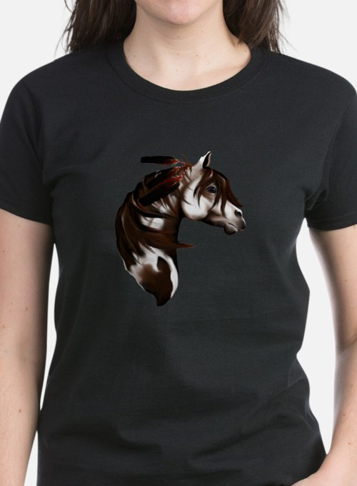 Feathered Paint Horse Tee