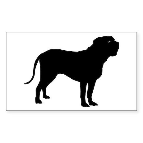 Dogue de Bordeaux Rectangle Sticker