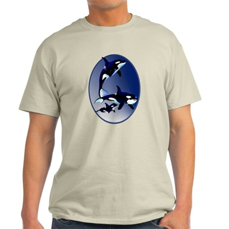 Killer Whale Family Light T-Shirt