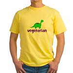 Vegetarian - Dinosaur Yellow T-Shirt