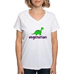 Vegetarian - Dinosaur Women's V-Neck T-Shirt