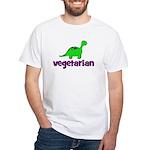 Vegetarian - Dinosaur White T-Shirt