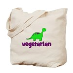 Vegetarian - Dinosaur Tote Bag