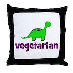 Vegetarian - Dinosaur Throw Pillow