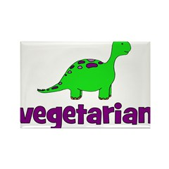 Vegetarian - Dinosaur Rectangle Magnet (10 pack)