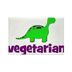 Vegetarian - Dinosaur Rectangle Magnet