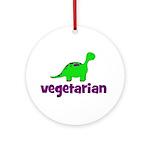 Vegetarian - Dinosaur Ornament (Round)