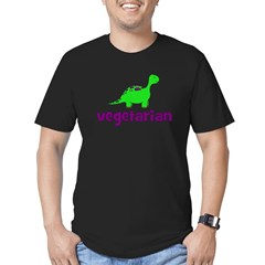 Vegetarian - Dinosaur Men's Fitted T-Shirt (dark)