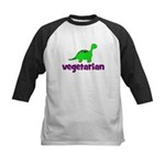 Vegetarian - Dinosaur Kids Baseball Jersey