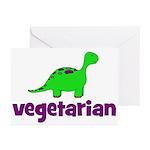 Vegetarian - Dinosaur Greeting Cards (Pk of 20)