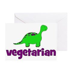 Vegetarian - Dinosaur Greeting Cards (Pk of 10)