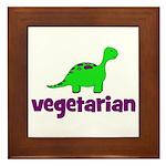 Vegetarian - Dinosaur Framed Tile