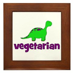 Vegetarian - Dinosaur Framed Tile