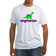 Vegetarian - Dinosaur Fitted T-Shirt