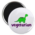 """Vegetarian - Dinosaur 2.25"""" Magnet (100 pack)"""